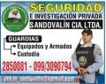 SEGURIDAD E INVESTIGACIÓN PRIVADA SANDOVALIN CÍA. LTDA