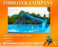 Toboganes acuáticos para  balnearios, Tanques industriales, Baños portátiles ecológicos...