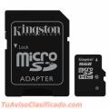 Memoria kingston microsdhc 16gb class 10