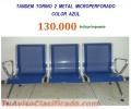 Silla Visitante Tandem Metalico 3 Ptos Torino / New York Az