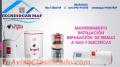 Reparacion servicio técnico de termas BRYANT 7338618 a gas eléctricas