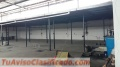 Galpón techado de 1500 metros cuadrados