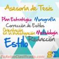 Asesoría de Tesis y Consultoría de todo tipo