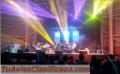 Alquiler de audio, iluminacion, escenarios, tarimas, pantallas led, plantas electricas.