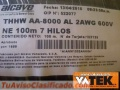 CABLE THHW 90° # 2/0 AWG NEGRO 600V ALUMINIO SERIE 8000 MARCA PHELPS DODGE