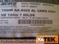 CABLE THHW 90° # 2/0 AWG NEGRO 600V ALUMINIO SERIE 8000 MARCA PHELPS DODGE