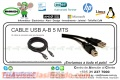 CABLE USB A-B 5 MTS