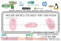 MOUSE MICRO U7Z-00021 WIR 1850 ROSA