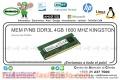 MEM P/NB DDR3L 4GB 1600 MHZ KINGSTON