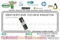 MEM DDR3 8GB 1333 MHZ KINGSTON