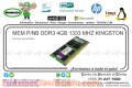 MEM P/NB DDR3 4GB 1333 MHZ KINGSTON