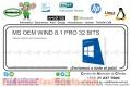 MS OEM WIND 8.1 PRO 32 BITS