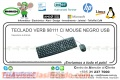 TECLADO VERB 98111 C/ MOUSE NEGRO USB
