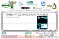 TINTA HP CZ114AL 670 CYAN/3525