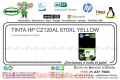 TINTA HP CZ120AL 670XL YELLOW