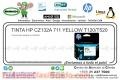 TINTA HP CZ132A 711 YELLOW T120/T520