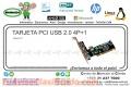 TARJETA PCI USB 2.0 4P+1