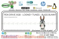 PEN DRIVE 8GB - LOONEY TUNES - BUGS BUNNY
