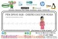 PEN DRIVE 8GB - DISEÑO DOCTOR ROSA