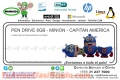 PEN DRIVE 8GB - MINION - CAPITAN AMERICA