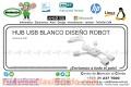 HUB USB BLANCO DISEÑO ROBOT