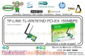 WIRE NE TP-LINK TL-WN781ND PCI-EX 150MBPS