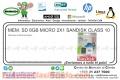 MEM. SD 8GB MICRO 2X1 SANDISK CLASS 10