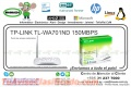 WIRE ACCESS POINT TP-LINK TL-WA701ND 150MBPS