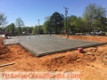 Concrete work- stamped concrete - pool foundations