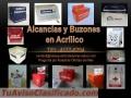 Alcancìas de Acrìlico y PVC