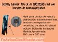 BANNER TIPO X EN DIFERENTES MEDIDAS