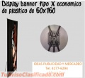 DISPLAY BANNER TIPO X