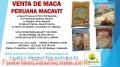 MACA PERUANA MACAVIT Y OTROS PRODUCTOS VENTA – A NIVEL NACIONAL Y EXPÓRTACION PERU 2016