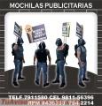 MOCHILAS PUBLICITARIAS - HOMBRE PANCARTA