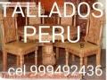 BARGUEÑOS y Bares Coloniales TALLADOS PERUANOS