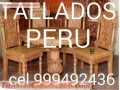 MUEBLE BAR TALLADO COLONIAL HECHO EN PERÚ