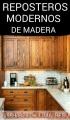 REPOSTEROS MODERNOS DE MADERA