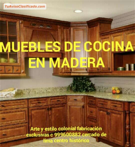 Muebles para cocina en madera clasicos LIMA PERU SUDAMÉRICA - Mobi...