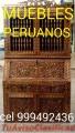 MUEBLES bares TALLADOS Coloniales Peruanos