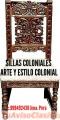 COMEDORES Coloniales TALLADOS PERUANOS FABRICO y diseño