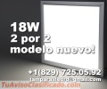 Paneles Led Para Techos. Rectangulares, en Plafon. 18W