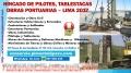 Hincados de Pilotes, Perforaciones, Tablestacas de Concreto Armado, Obras Portuarias PERU