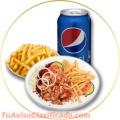 Deliciosa comida rapida y gourmet