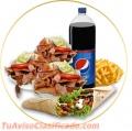 Restaurant Kebab Pack ideal para compartir en familia