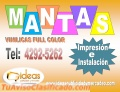 MANTAS VINILICAS A FULL COLOR
