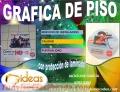 GRÁFICA DE PISO A FULL COLOR CON PROTECCIÓN