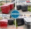Contenedores industriales 1100 litros desechos comunes