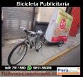 Bicicleta publicitaria .