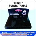 FUENTES  PUBLICITARIAS EN MDF WhatsApp: 9811-56396