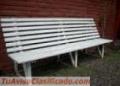 Vendo bancos de madera color blanco